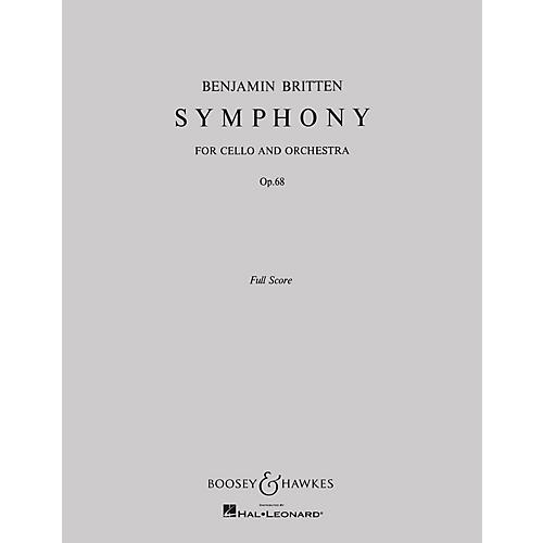 Boosey and Hawkes Symphony, Op. 68 (for Cello and Orchestra) Boosey & Hawkes Scores/Books Series by Benjamin Britten thumbnail