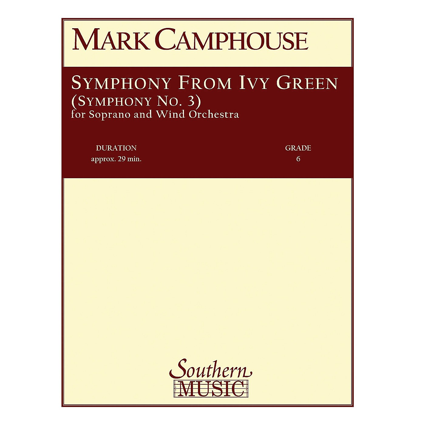 Southern Symphony from Ivy Green (Symphony No. 3) (Voice/Choir and Band) Concert Band Level 6 by Mark Camphouse thumbnail