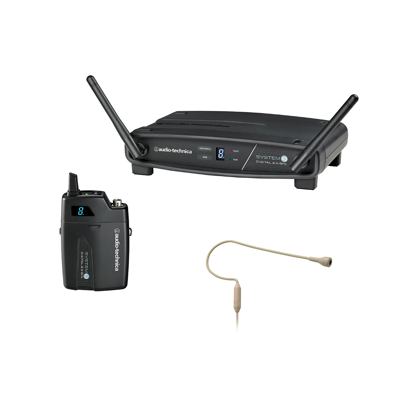 Audio-Technica System 10 ATW-1101/H92-TH 2.4GHz Digital Wireless Headset System thumbnail