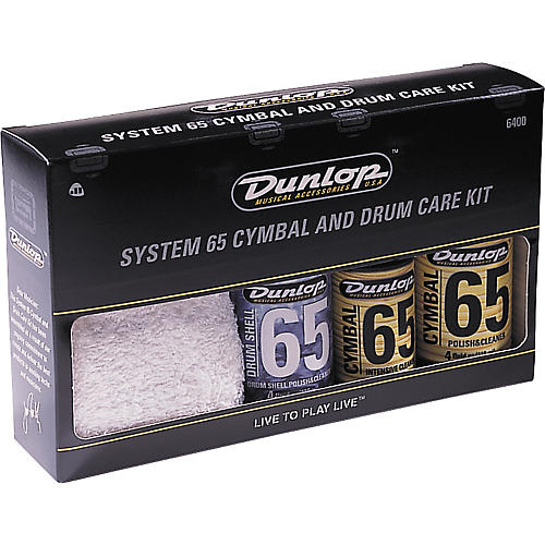Dunlop System 65 Cymbal and Drum Care Kit thumbnail