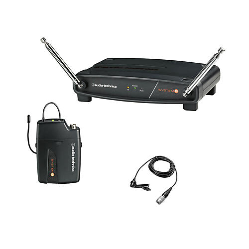 Audio-Technica System 8 Wireless System includes: UniPak Transmitter w/ Lavalier Microphone thumbnail