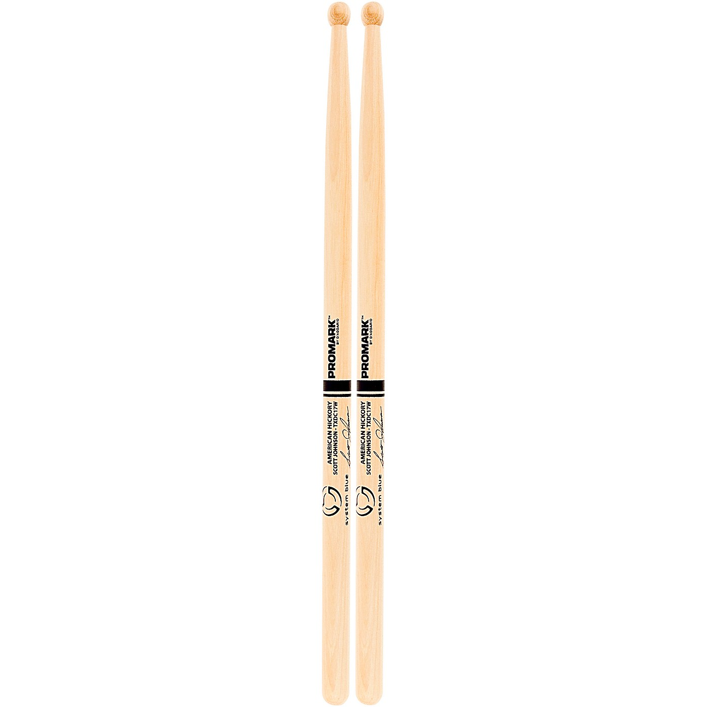 Promark System Blue Scott Johnson Marching Snare Drum Sticks thumbnail