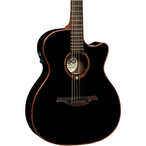 Lag Guitars T100ACE Auditorium Cutaway Acoustic-Electric Guitar-thumbnail