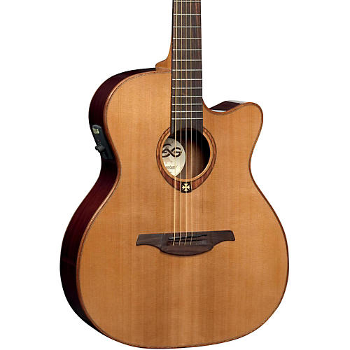lag guitars t100ace auditorium cutaway acoustic electric guitar woodwind brasswind. Black Bedroom Furniture Sets. Home Design Ideas