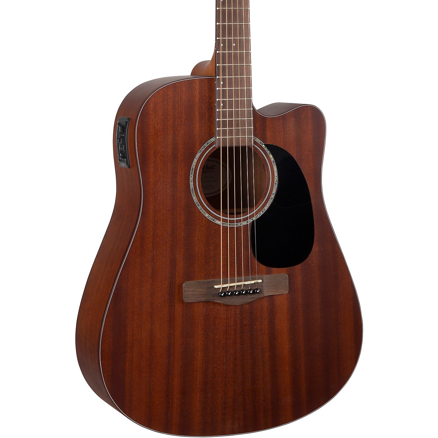 Mitchell T231CE Mahogany Dreadnought Acoustic-Electric Cutaway Guitar thumbnail