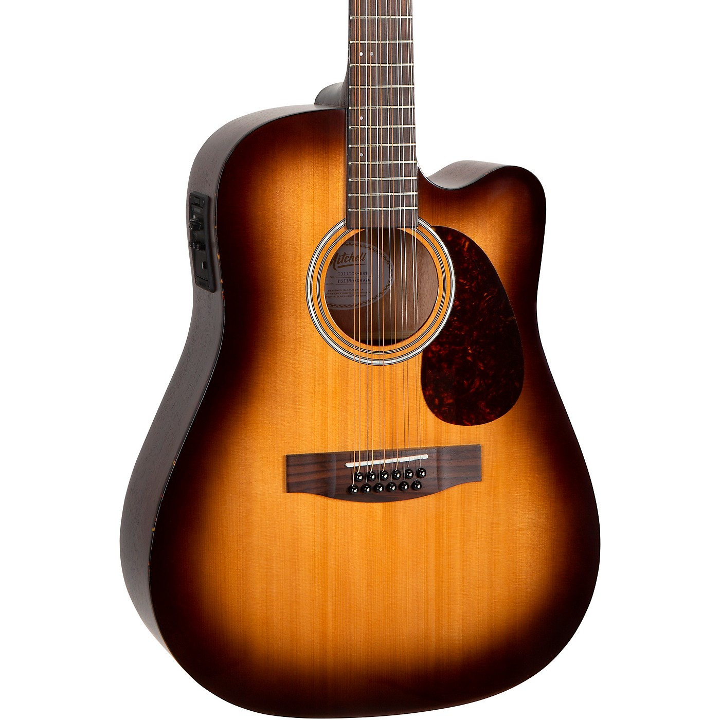 Mitchell T311TCE-BST Terra 12 String Acoustic Electric Dreadnaught Spruce Top Guitar thumbnail
