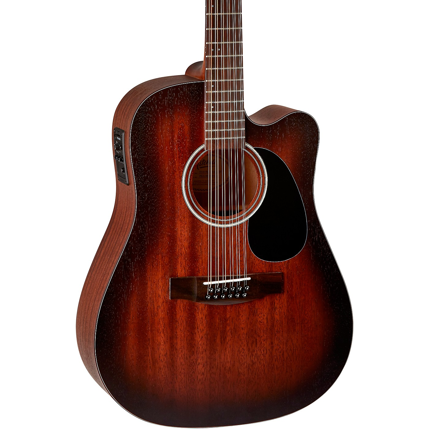 Mitchell T331TCE-BST Terra 12 String Acoustic Electric Dreadnaught Mahogany Top Guitar thumbnail