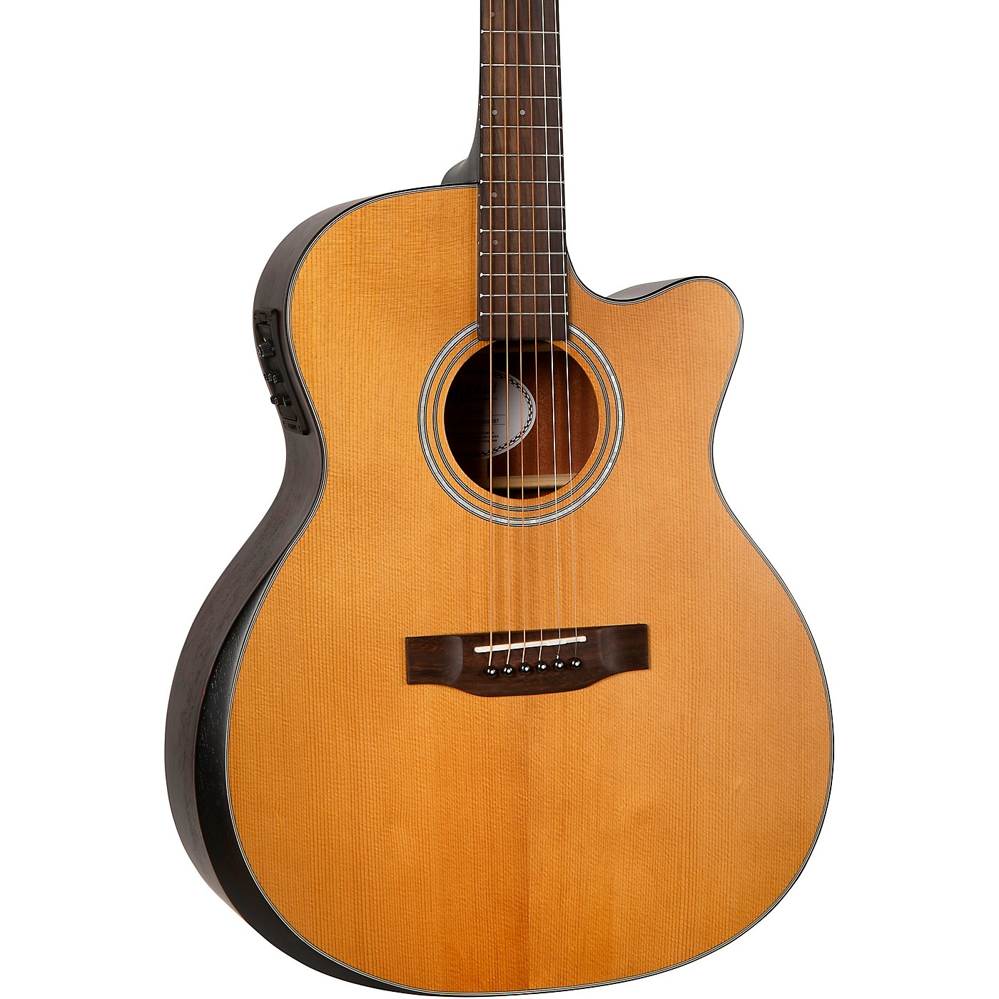 Mitchell T413CE Solid Torrefied Spruce Top Auditorium Acoustic-Electric Cutaway Guitar thumbnail