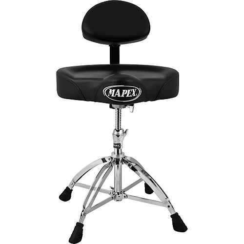 Mapex T775 Saddle Top Drum Throne with Back Rest and 4 Double Braced Legs thumbnail