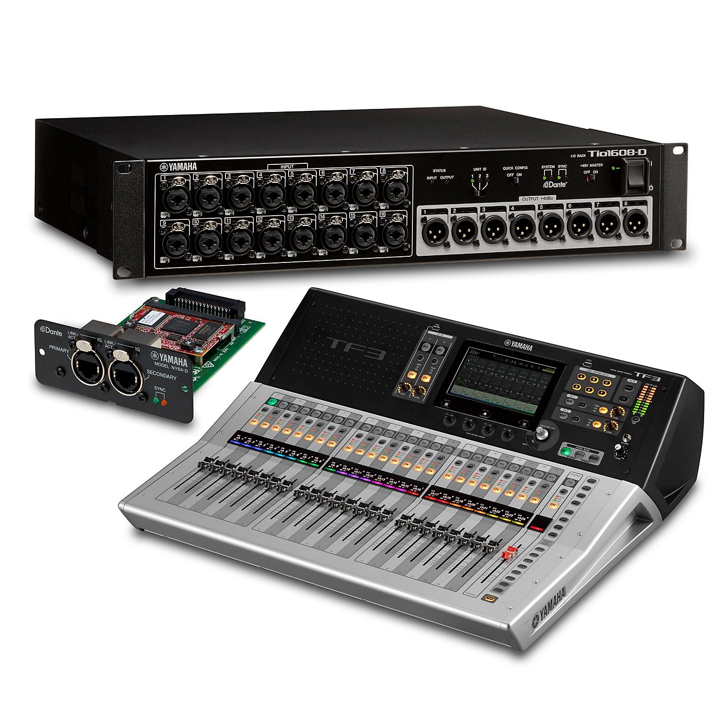 Yamaha TF3 24-Ch Digital Mixer with Tio1608-D Dante Stage Box and Expansion Card thumbnail