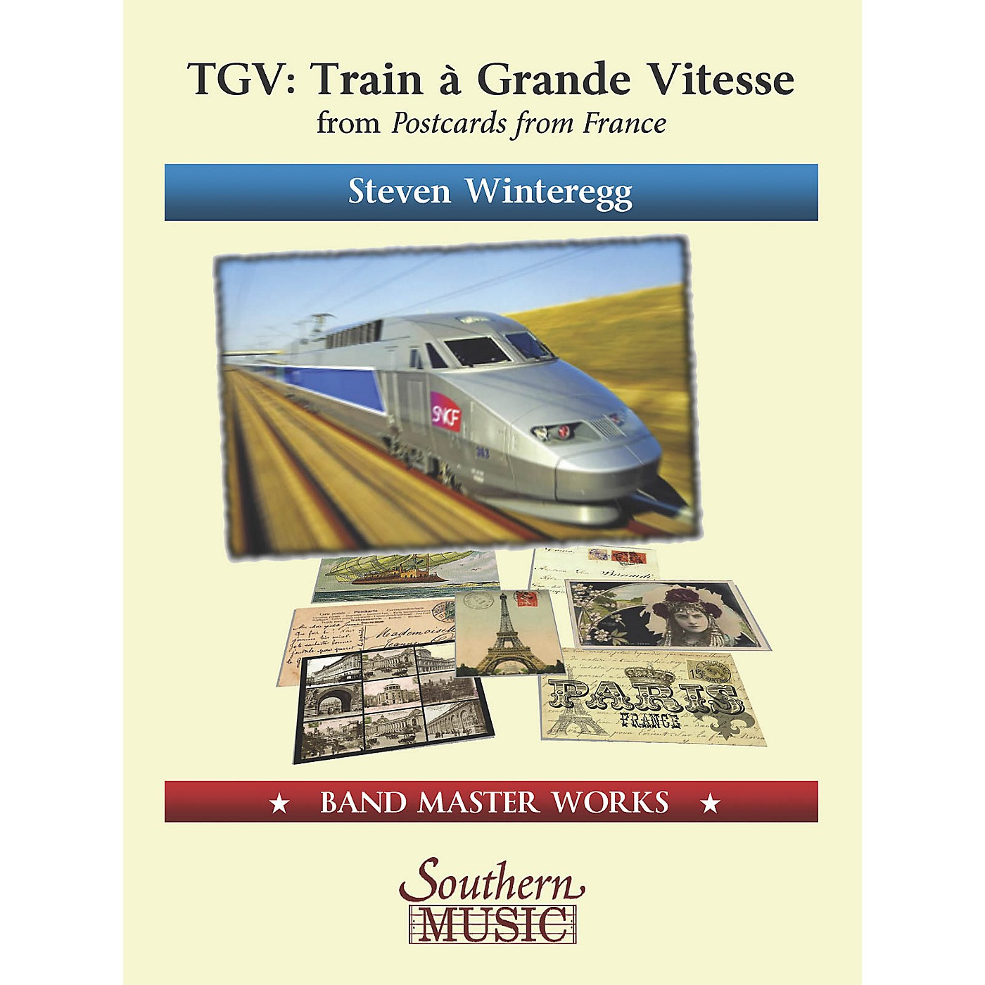 Southern TGV (Train á Grande Vitesse) from Postcards from France Concert Band Level 4 Composed by Steven Winteregg thumbnail