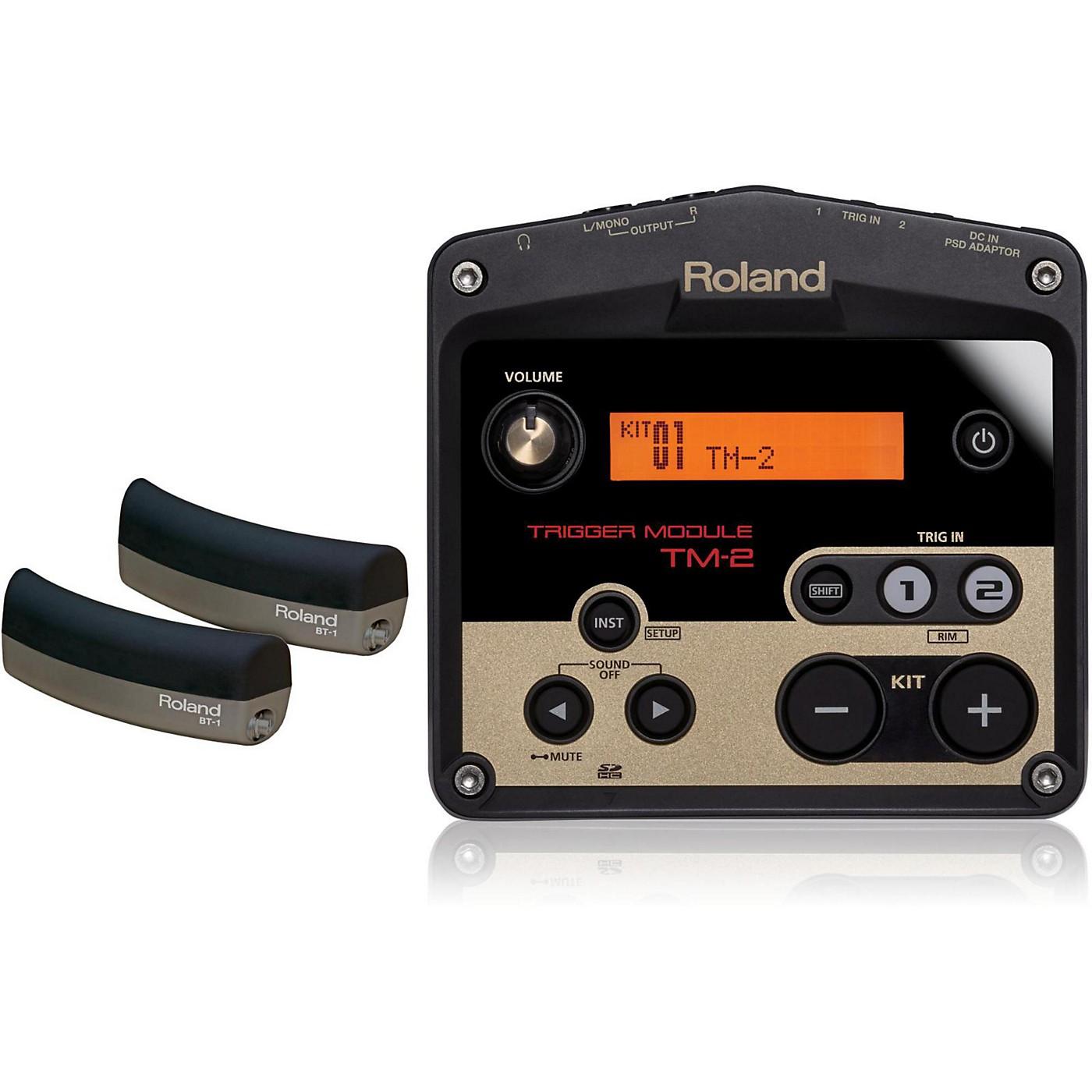 Roland TM-2 Drum Trigger module with 2 BT-1 Bar Trigger pads thumbnail