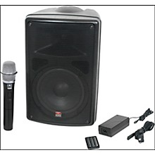 Galaxy Audio TQ8-20H0N Traveler Quest 8 All-In-One Portable PA System With One Receiver And One Handheld Microphone