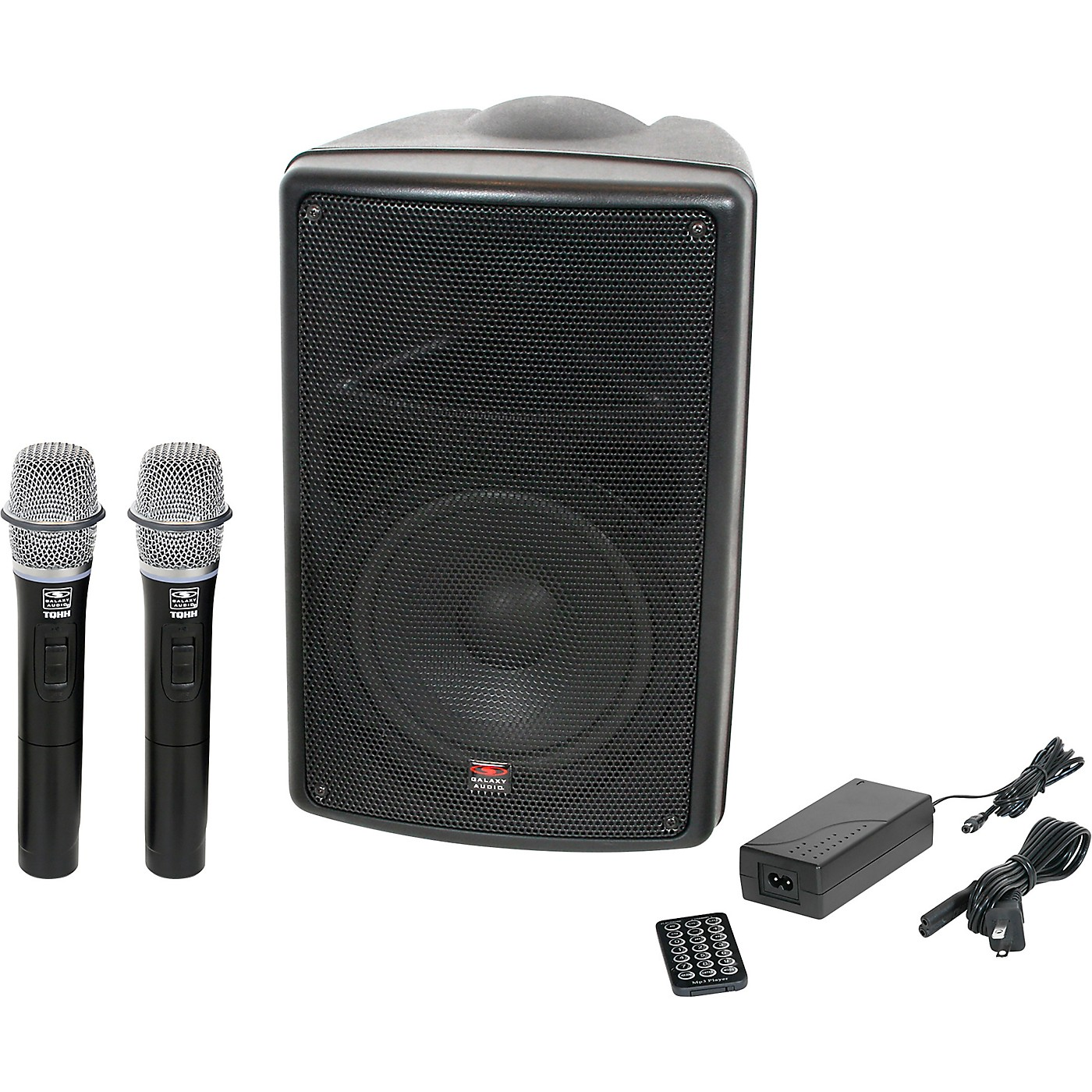 Galaxy Audio TQ8-24HHN Traveler Quest 8 TQ8 Battery Powered PA Speaker With 2 Receivers And Two Handheld Microphones thumbnail