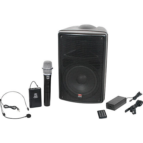 Galaxy Audio TQ8-24HSN Traveler Quest 8 All-In-One Portable PA System With Two Receivers, One Handheld Microphone, and One Headset Microphone thumbnail