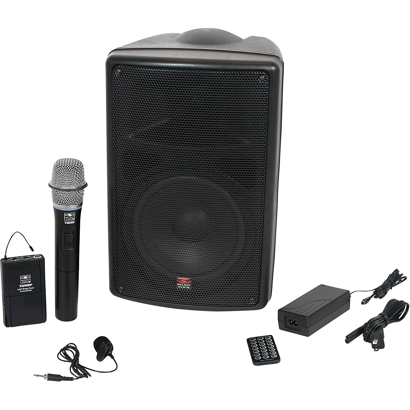 Galaxy Audio TQ8-24HVN TQ8 Traveler Quest 8 Battery Powered PA With Handheld Mic, Lav Mic and Two Receivers thumbnail