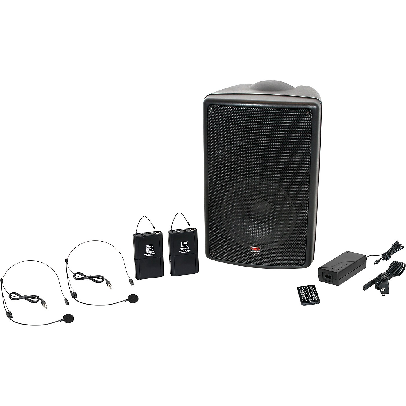 Galaxy Audio TQ8-24SSN Traveler Quest 8 TQ8 Battery Powered PA Speaker System With 2 Receivers and 2 Headset Microphones thumbnail