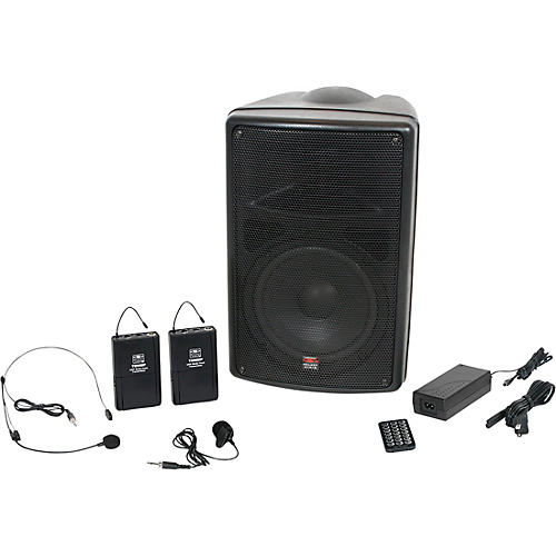 Galaxy Audio TQ8-24SVN Traveler Quest 8 TQ8 Battery Powered PA Speaker System With Two Receivers, One Headset, and One Lavalier Microphone thumbnail