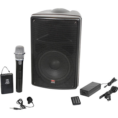 Galaxy Audio TQ8-24VHN Traveler Quest 8 TQ8 Battery Powered PA Speaker With 2 Receivers, One Lavalier and One Handheld Microphone thumbnail