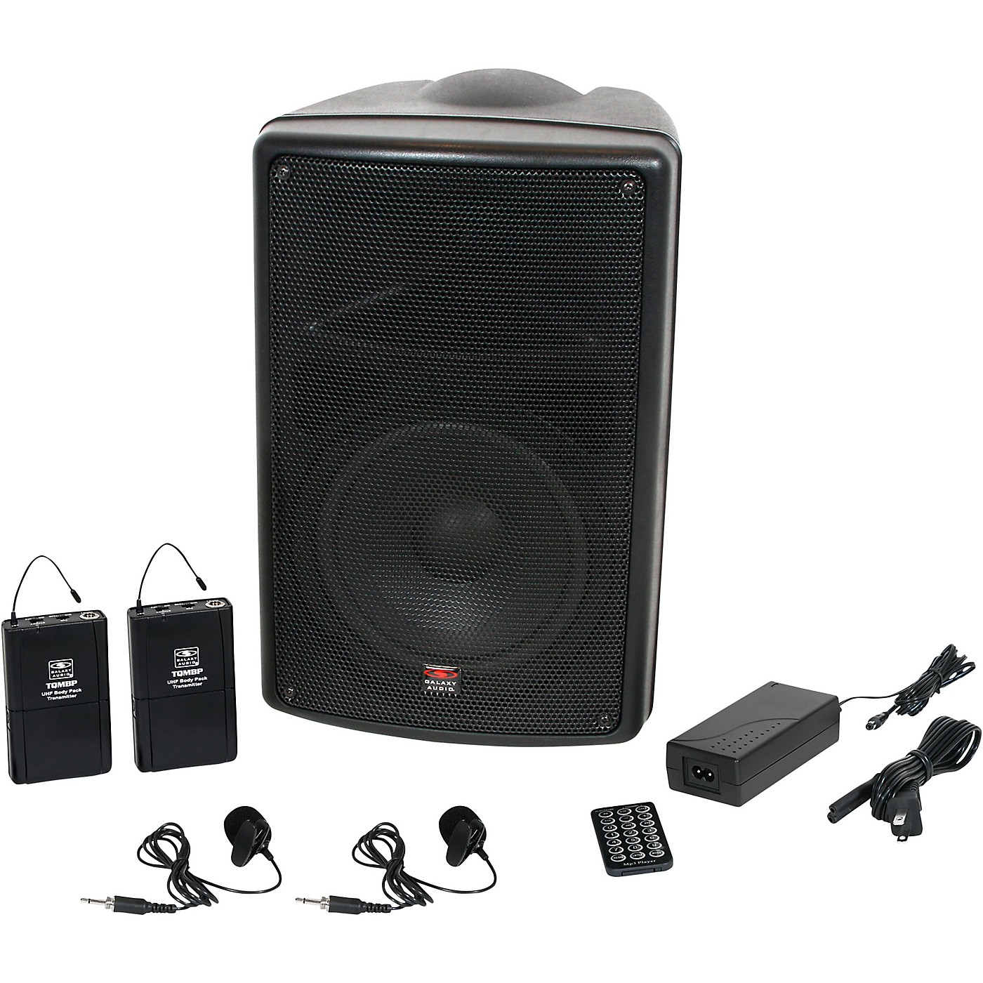 Galaxy Audio TQ8-24VVN Traveler Quest 8 TQ8 Battery Powered Portable PA Speaker System With Two Receivers and Two Lav Microphones thumbnail