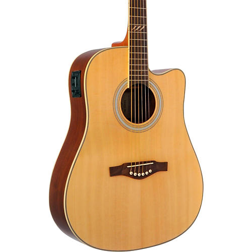 EKO TRI Series Dreadnought Cutaway Acoustic-Electric Guitar thumbnail