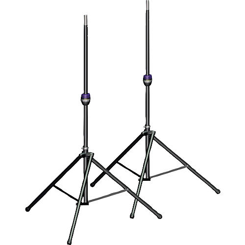 Ultimate Support TS-99BL Tall Leveling-Leg Speaker Stand Pair Black thumbnail