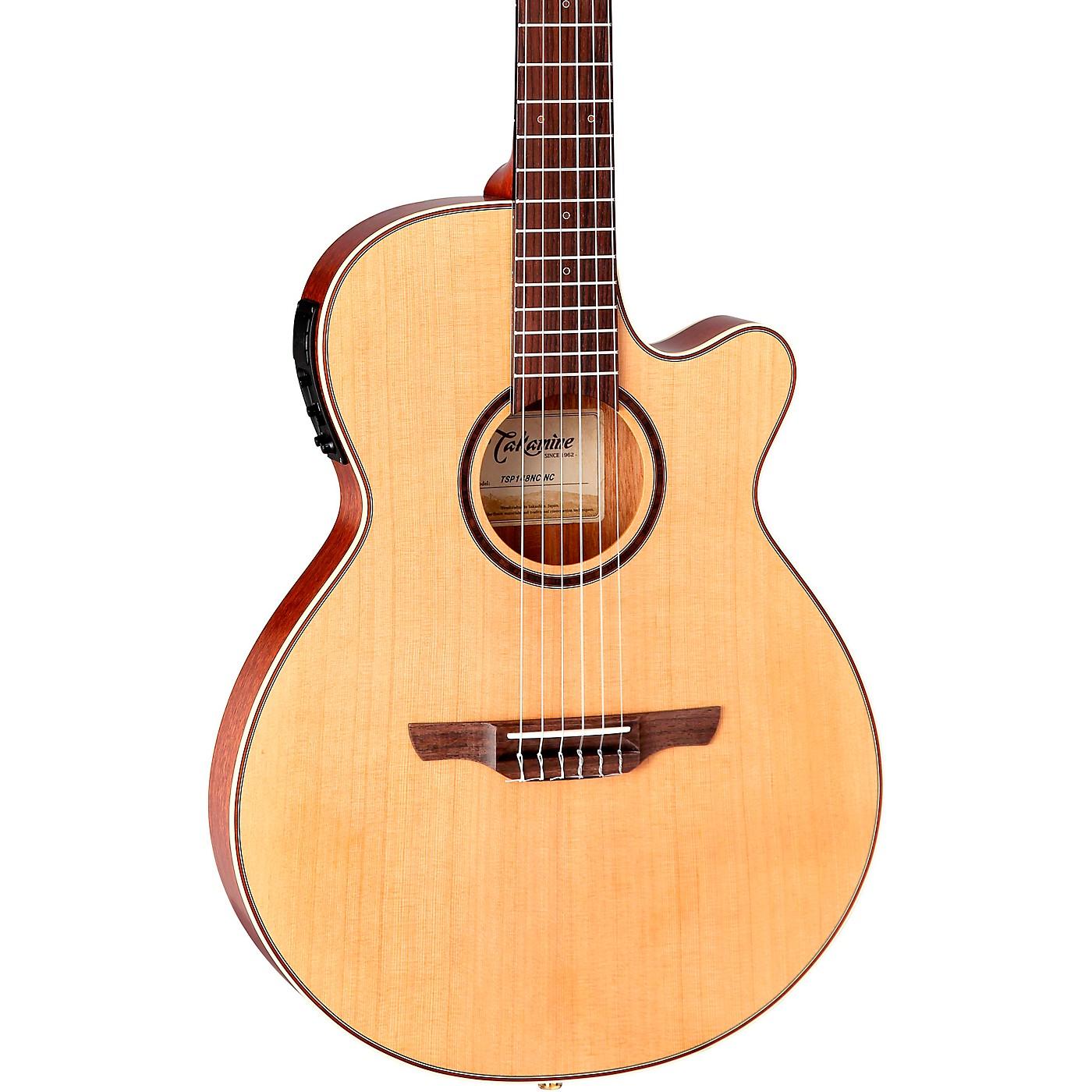 Takamine TSP148NC Nylon Thinline Acoustic-Electric Guitar thumbnail