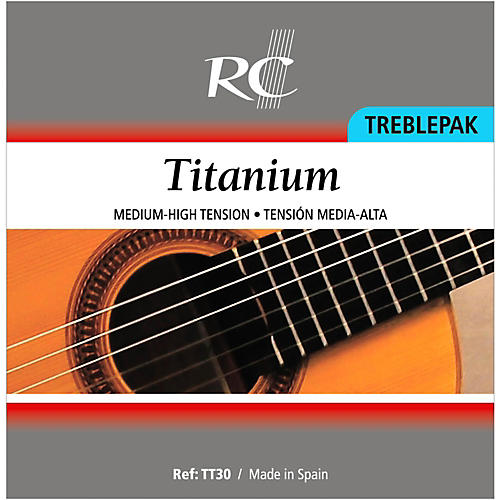 RC Strings TT30 Titanium Treblepak - 1st, 2nd and 3rd strings for Nylon String Guitar thumbnail