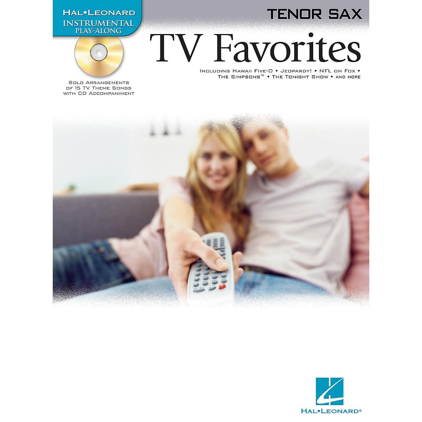 Hal Leonard TV Favorites (for Tenor Sax) Instrumental Play-Along Series Book with CD thumbnail