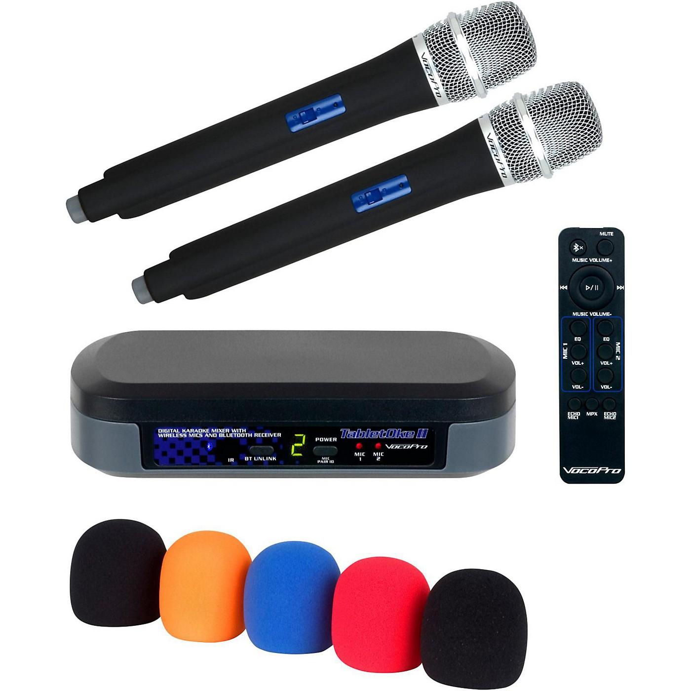 VocoPro TabletOke II Digital Karaoke Mixer with Wireless Mics, Bluetooth Receiver, and Mic Wind Screens (5) thumbnail