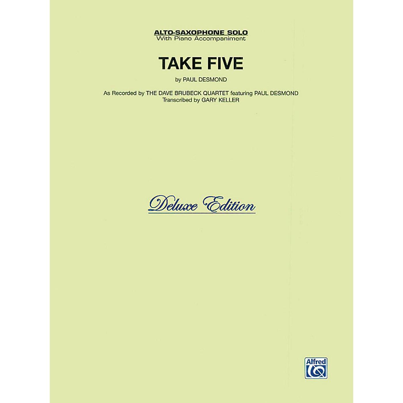 Alfred Take Five for Alto Sax The Dave Brubeck Quartet Book thumbnail