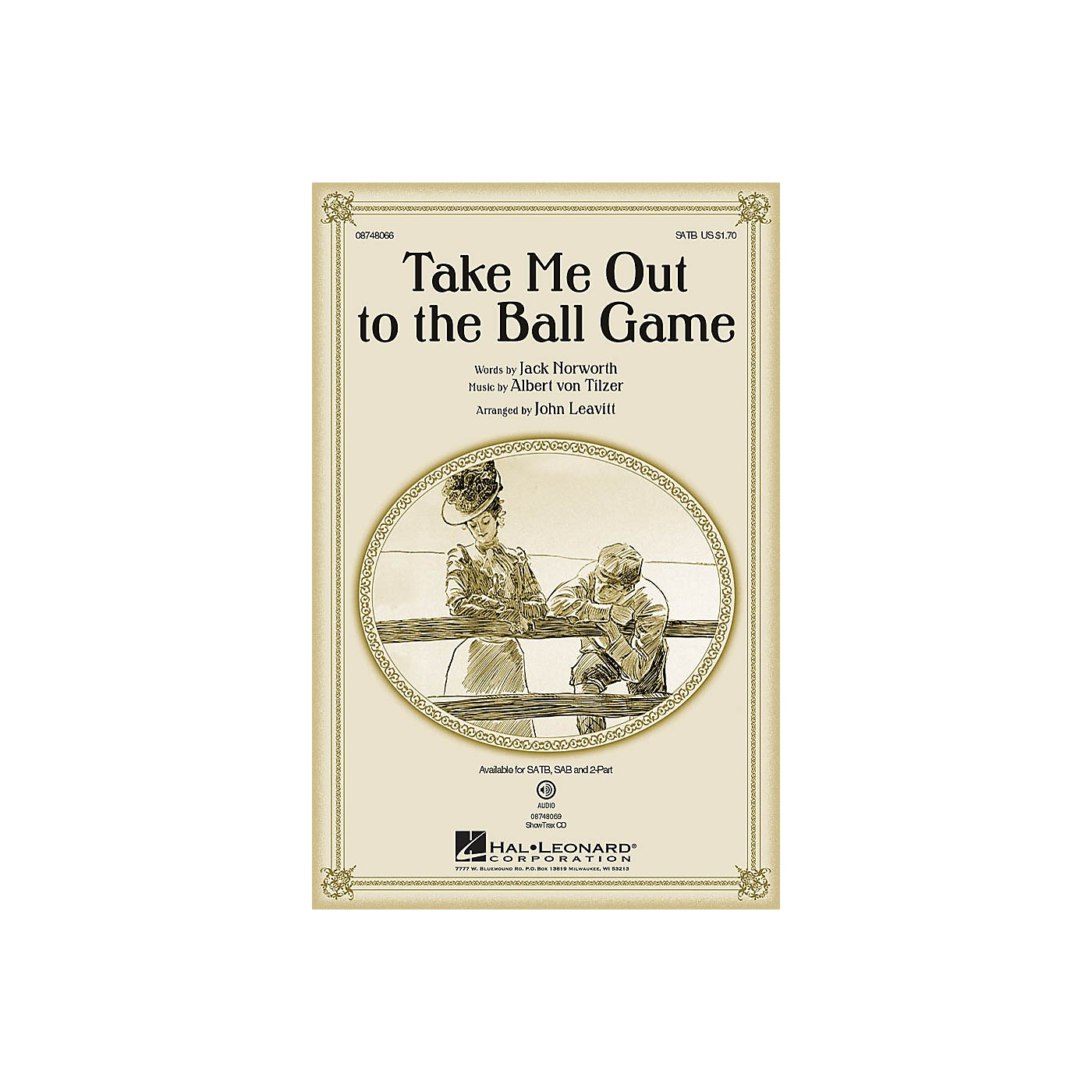 Hal Leonard Take Me Out to the Ball Game SAB Arranged by John Leavitt thumbnail