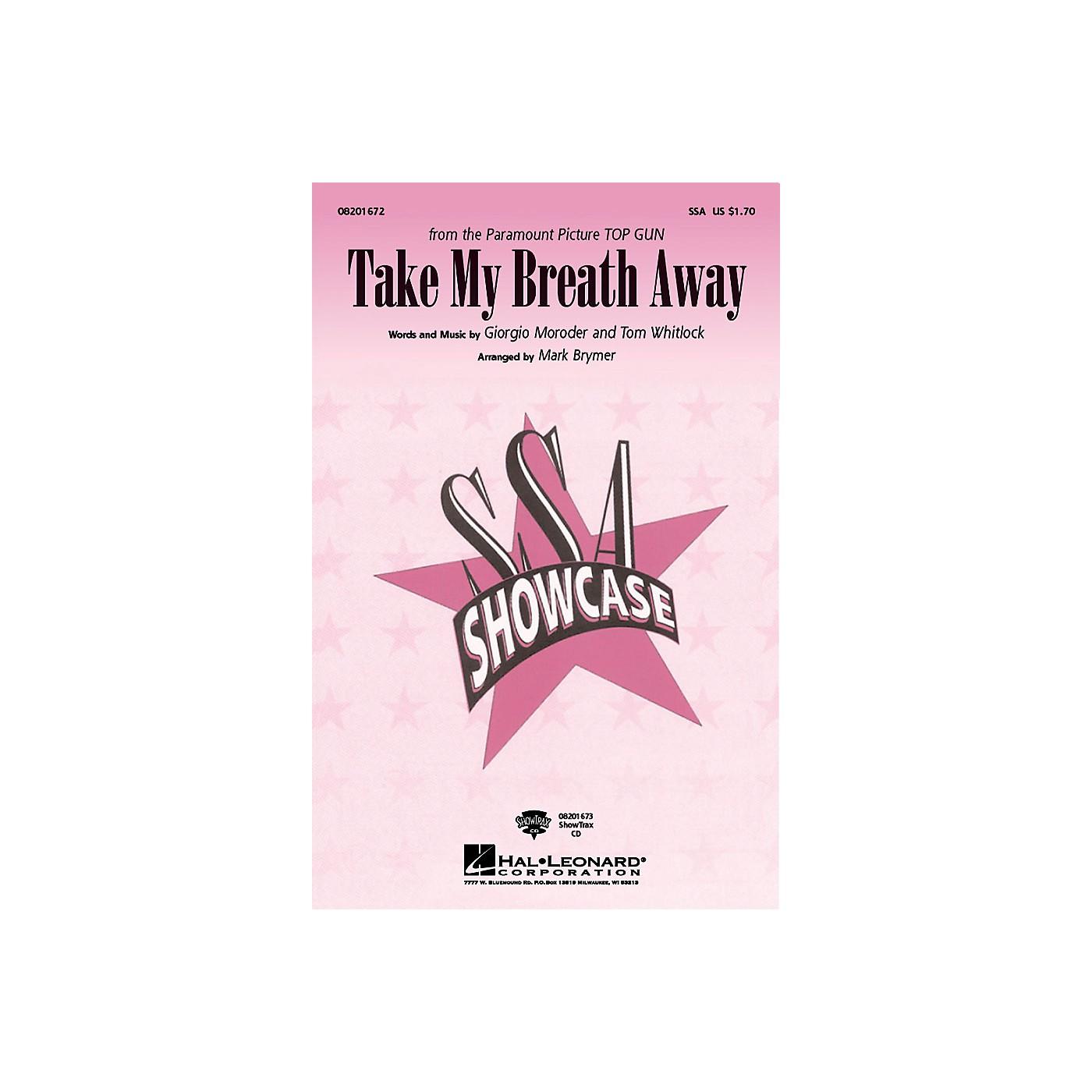 Hal Leonard Take My Breath Away ShowTrax CD Arranged by Mark Brymer thumbnail
