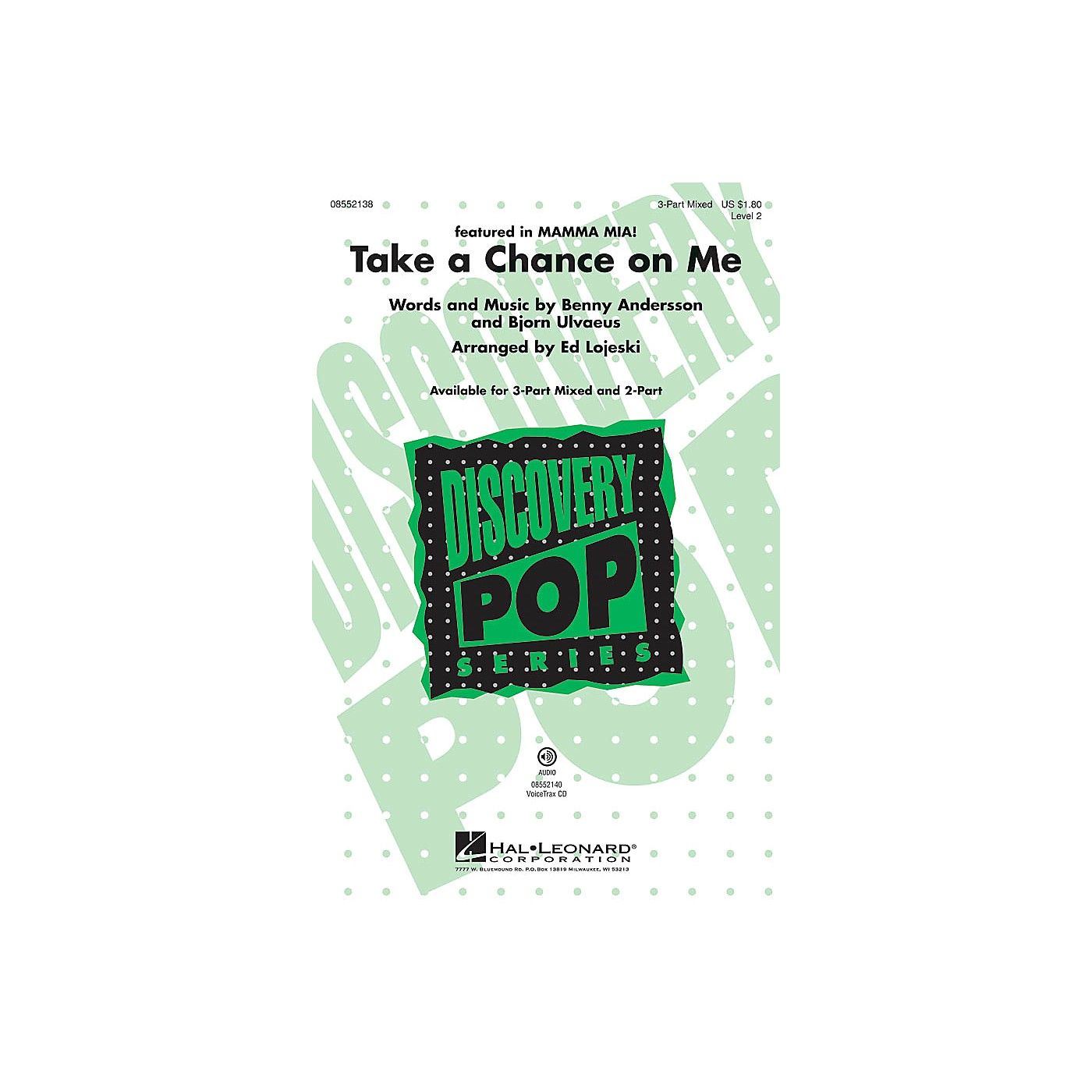 Hal Leonard Take a Chance on Me (from Mamma Mia!) Discovery Level 2 VoiceTrax CD by ABBA Arranged by Ed Lojeski thumbnail