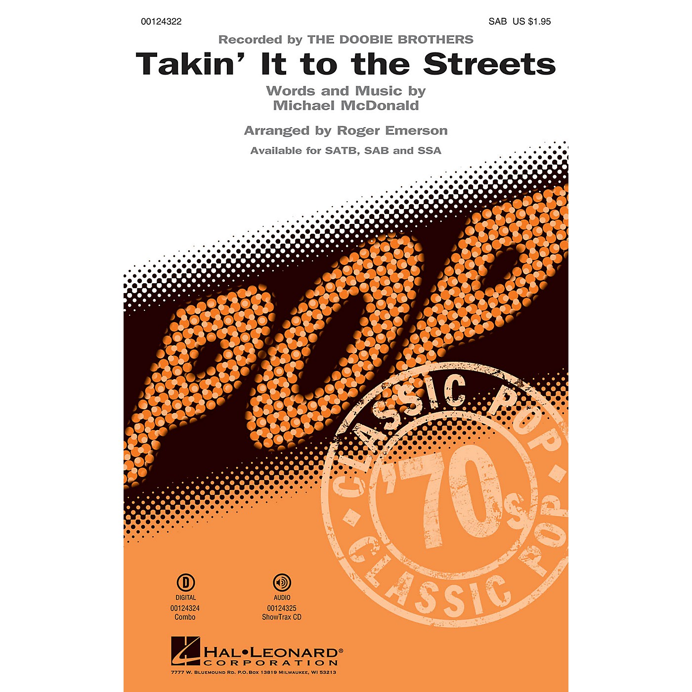 Hal Leonard Takin' It to the Streets SAB by Doobie Brothers arranged by Roger Emerson thumbnail