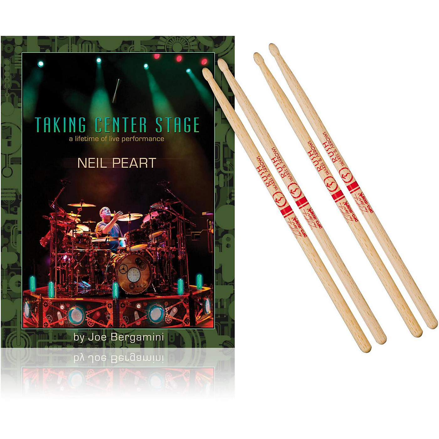 Hudson Music Taking Center Stage Book and Neil Peart Autograph Stick Pack thumbnail