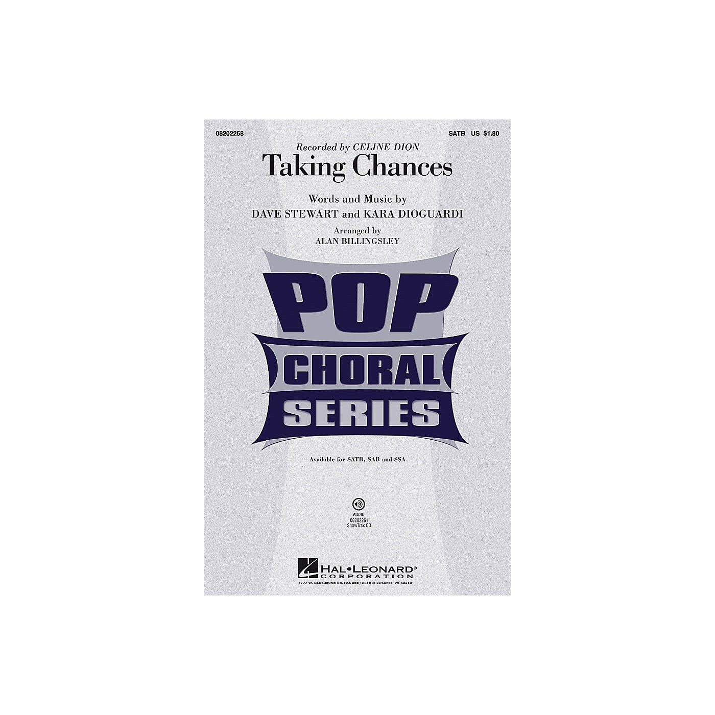 Hal Leonard Taking Chances ShowTrax CD by Celine Dion Arranged by Alan Billingsley thumbnail