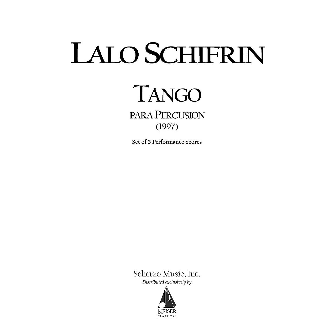 Lauren Keiser Music Publishing Tango Para Percusion (Tango for Percussion) (5 Performance Scores) LKM Music Series by Lalo Schifrin thumbnail
