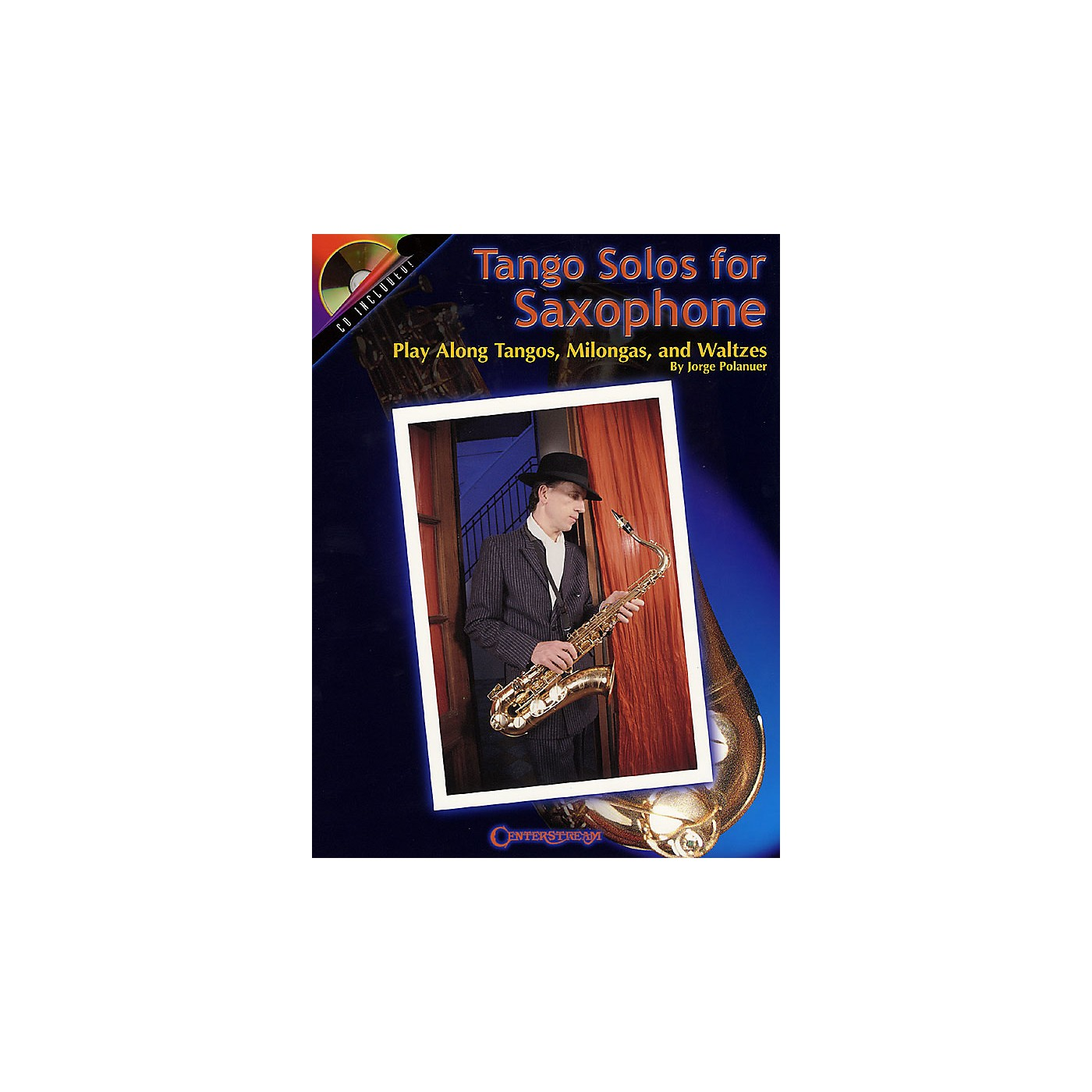 Centerstream Publishing Tango Solos for Saxophone (Play-Along Tangos, Milongas and Waltzes) Instrumental Series Book with CD thumbnail