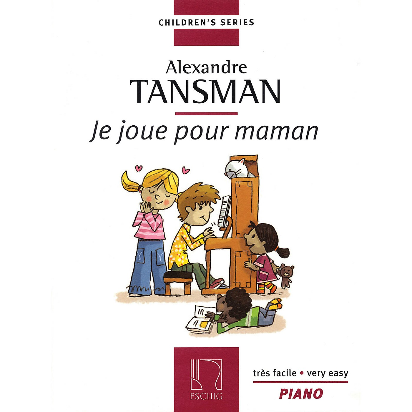 Max Eschig Tansman - I Play for Mama (Je Joue Pour Maman) (12 Easy Pieces for Piano) Editions Durand Series thumbnail