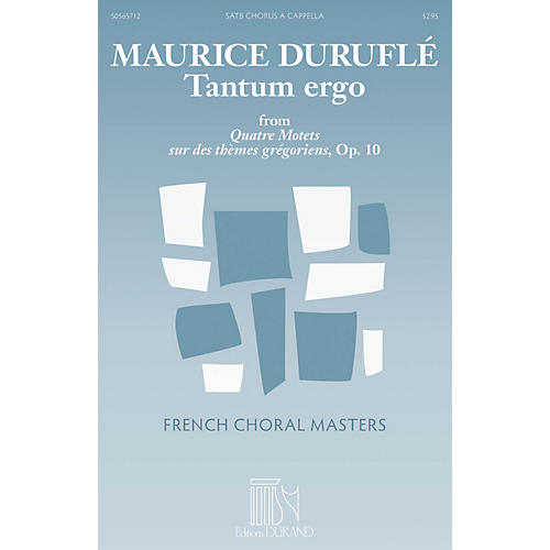 Durand Tantum Ergo SATB a cappella Composed by Maurice Duruflé thumbnail