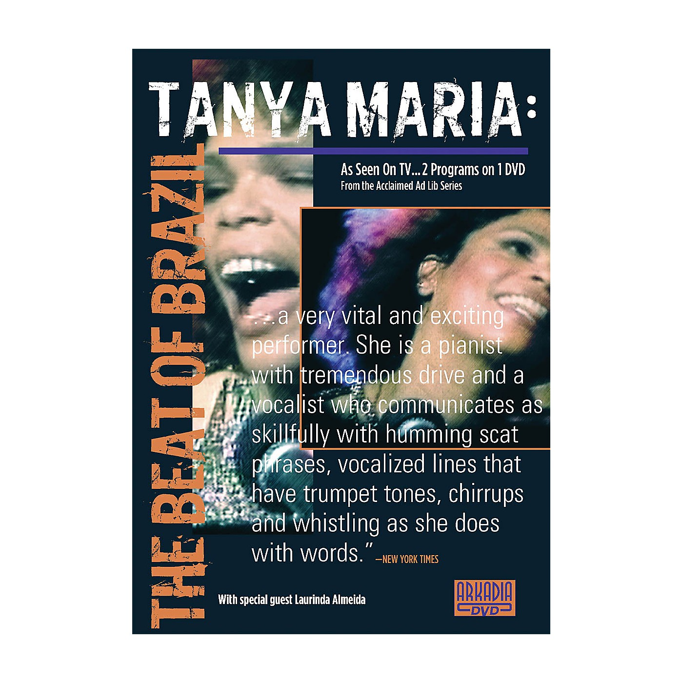 Hal Leonard Tanya Maria - The Beat of Brazil (Visions of Jazz Series) DVD Series DVD Performed by Tanya Maria thumbnail