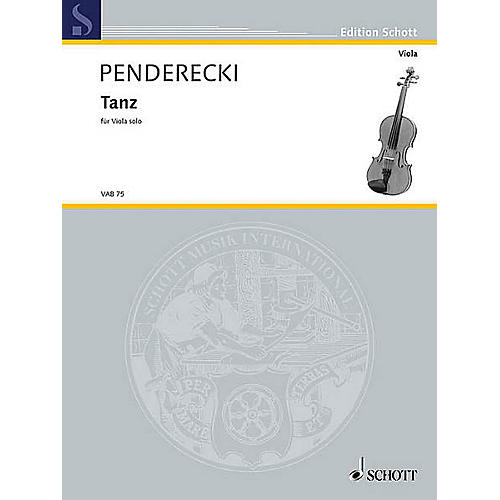 Schott Tanz (Viola Solo) String Solo Series Softcover thumbnail