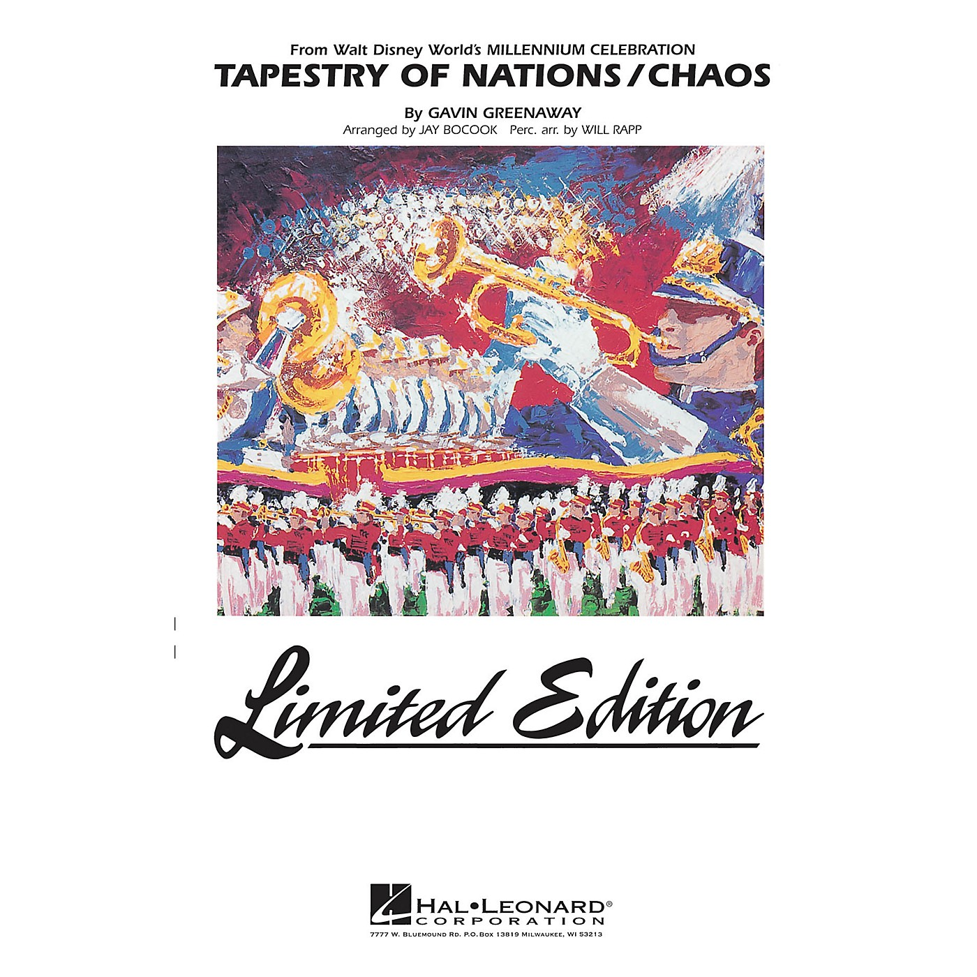 Hal Leonard Tapestry of Nations/Chaos (from Disney's Millenium Celebration) Marching Band Level 5 by Jay Bocook thumbnail