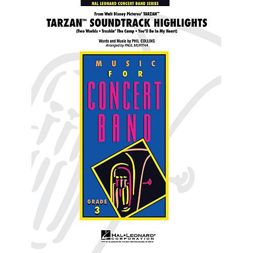 Hal Leonard Tarzan Soundtrack Highlights - Young Concert Band Series Level 3 arranged by Paul Murtha thumbnail