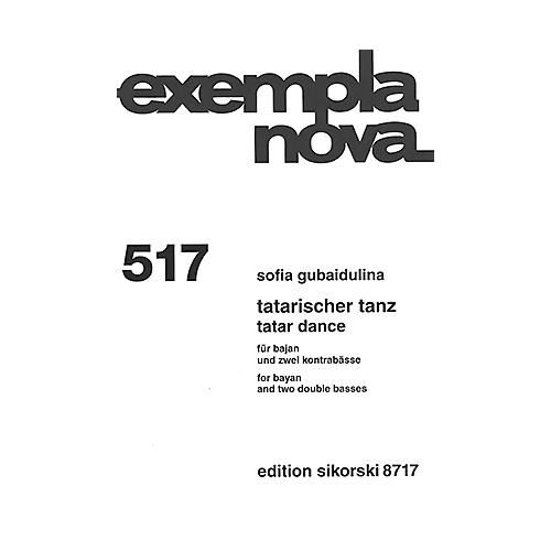 Sikorski Tatar Dance (for Bayan and Two Double Basses) Ensemble Series Softcover Composed by Sofia Gubaidulina thumbnail