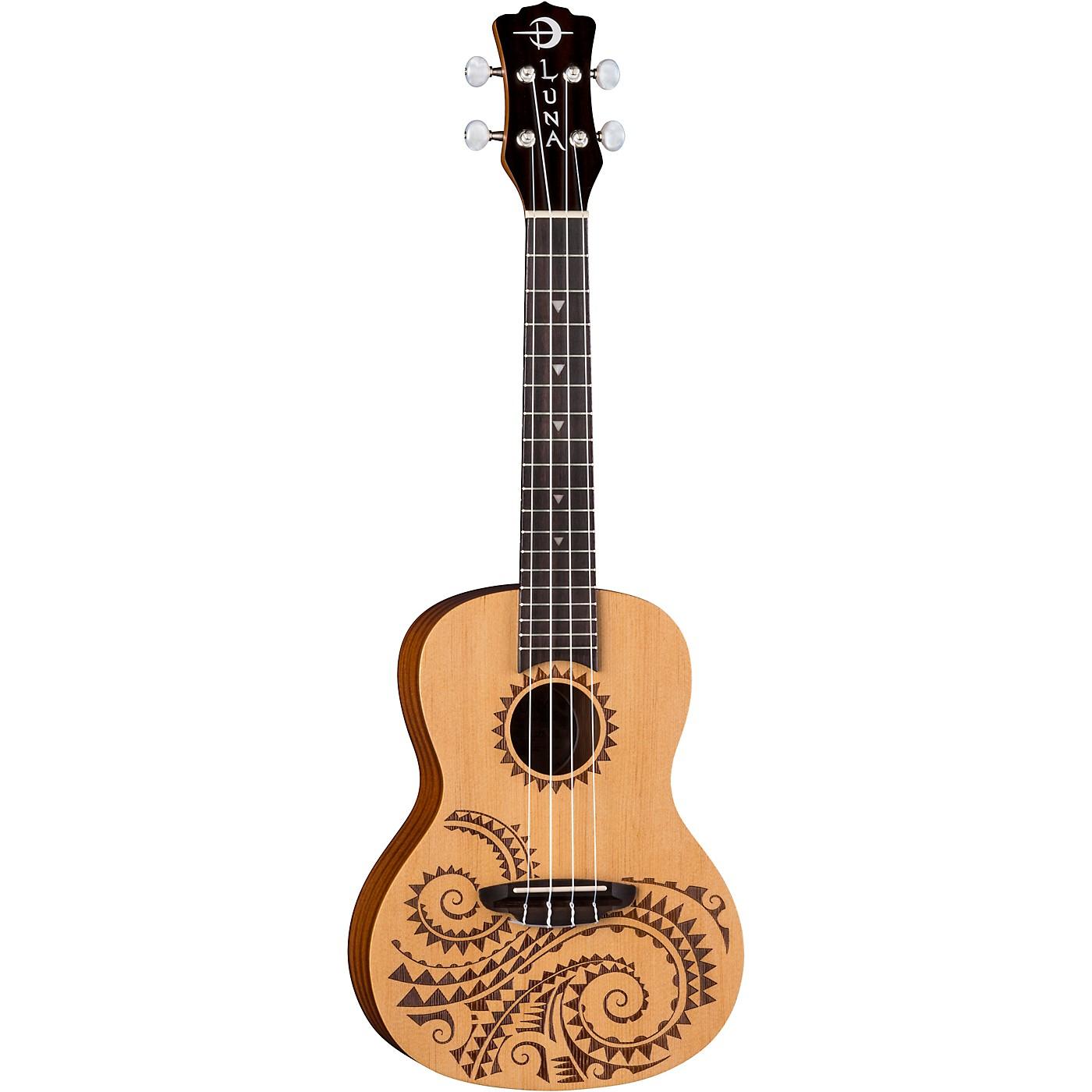 Luna Guitars Tattoo Spruce Concert Ukulele thumbnail