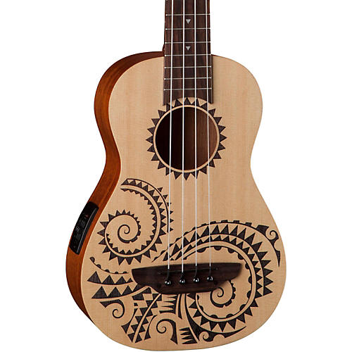 Luna Guitars Tattoo Ukulele Acoustic-Electric Bass thumbnail