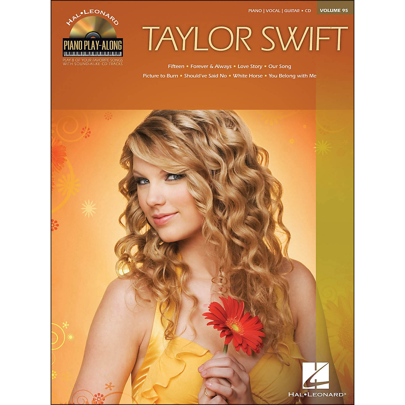 Hal Leonard Taylor Swift - Piano Play-Along Volume 95 (CD/Pkg) arranged for piano, vocal, and guitar (P/V/G) thumbnail