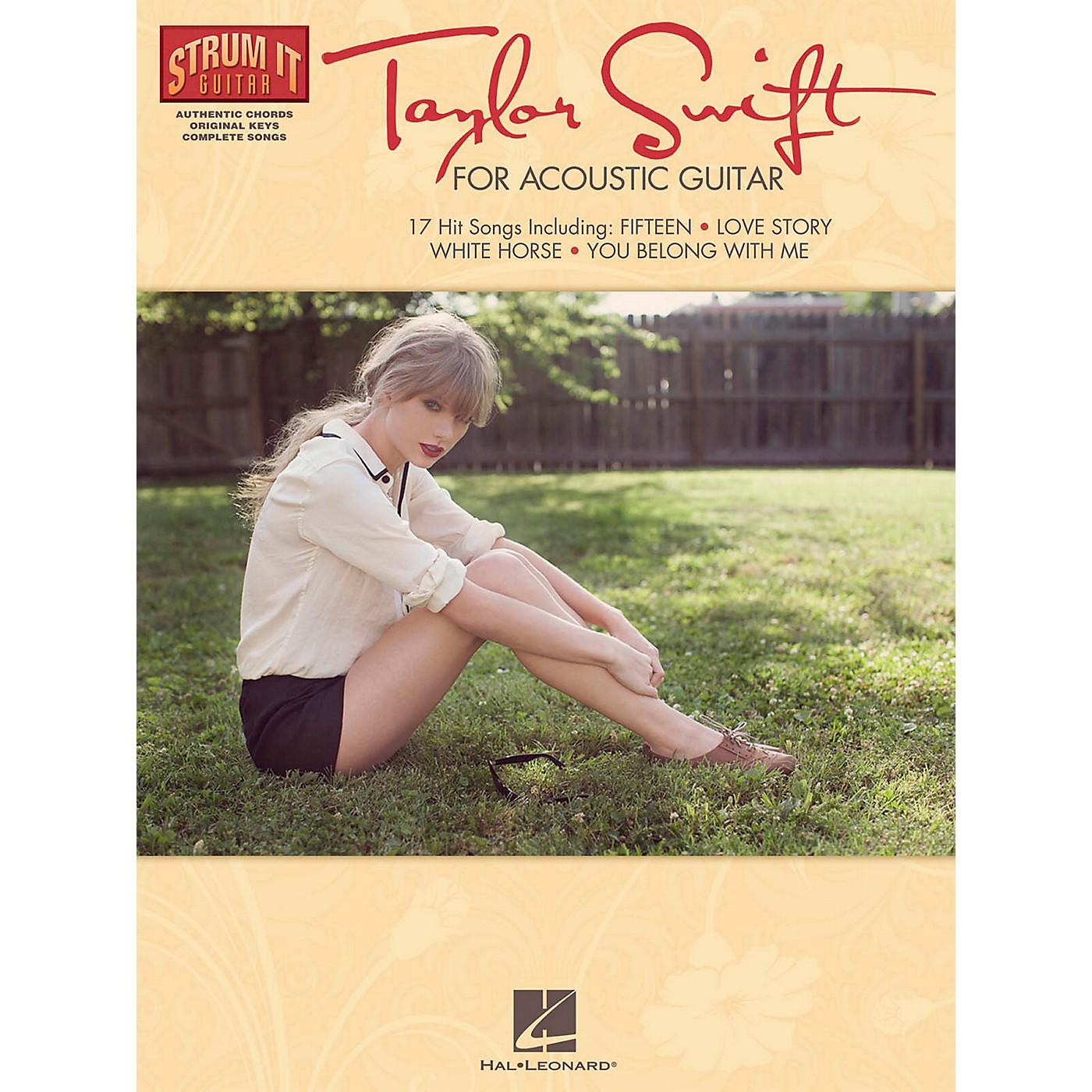 Hal Leonard Taylor Swift For Acoustic Guitar - Strum It Guitar Series thumbnail